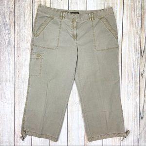 TOMMY BAHAMA Beige Cotton Leg Capri Pants Crop
